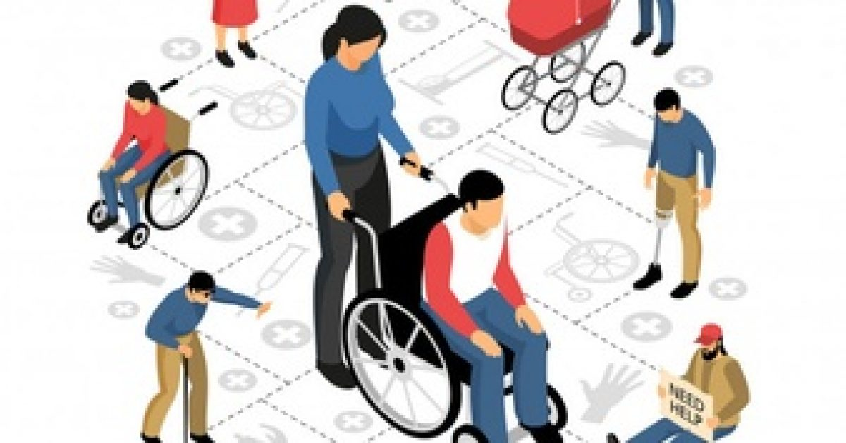 disabled-people-isometric-composition-with-pregnant-woman-persons-wheel-chair-retired-blind-man_1284-26606